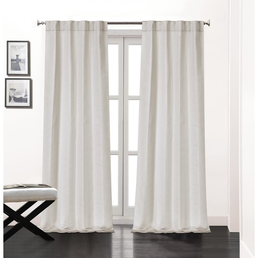Dainty Home Soho 84 In L Polyester Double Layer Lined Rod Pocket Window Curtain Panel Pair In Silver 2 Pack Sohorp84si Curtains Panel Curtains Rod Pocket Curtains