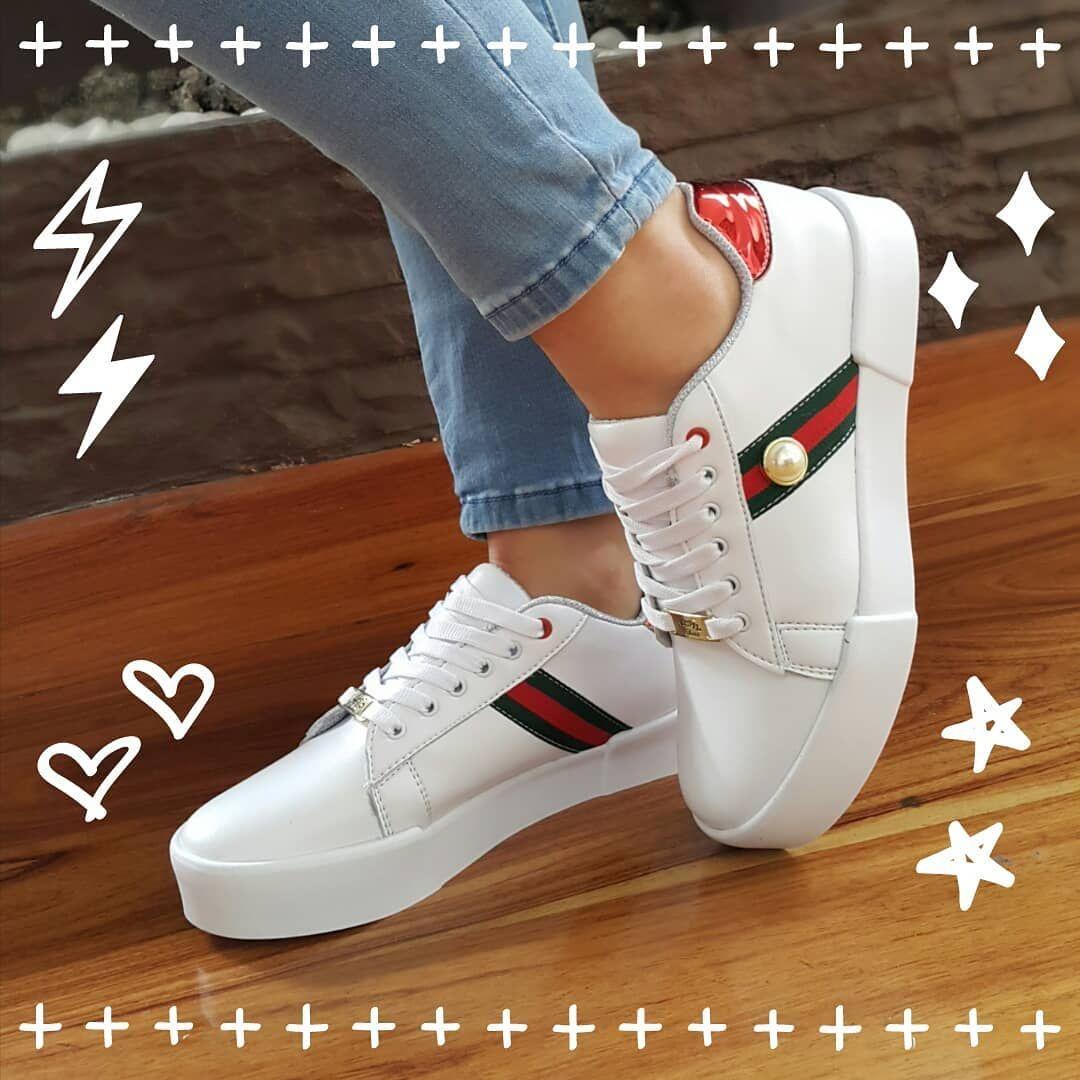 promo code ee53e 6d640 KUPID SHOES con banda lineal tipo gucci Somos fabricantes Whatsapp  3184848452 Zapatos de moda para mujer