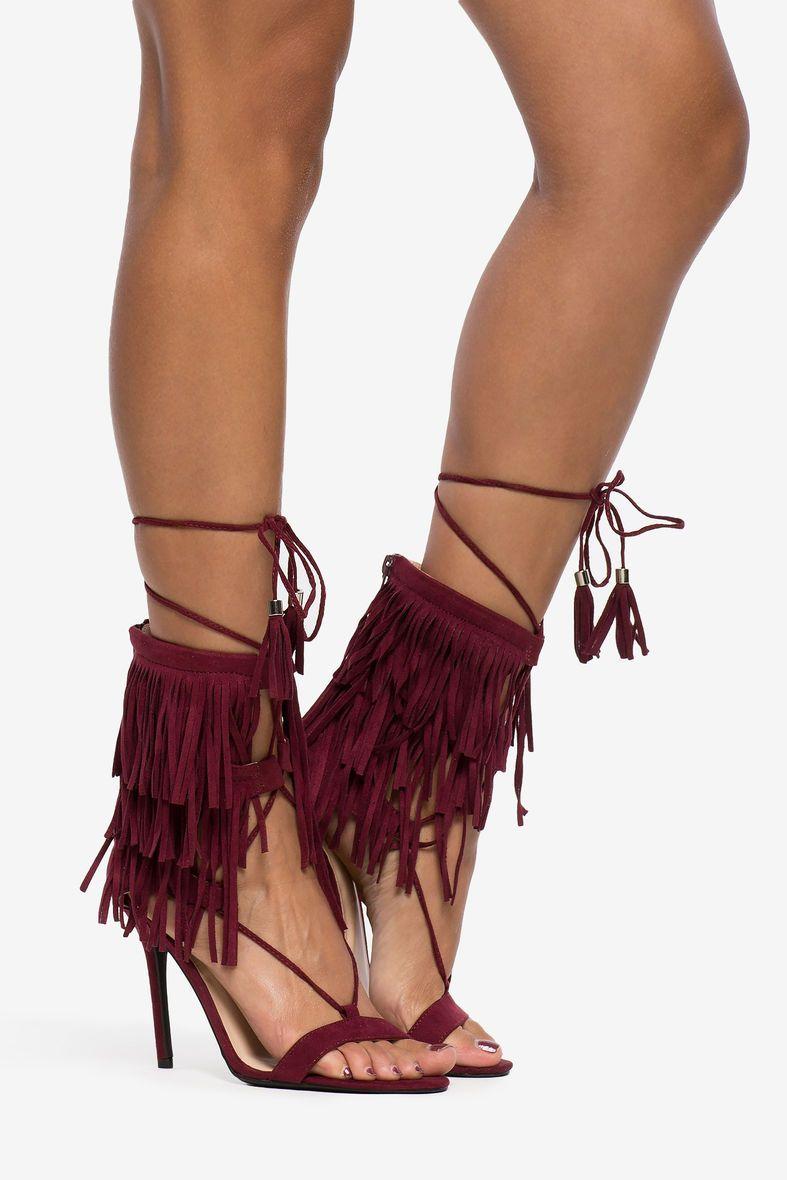 Women's Heels | Adele-221 Fringe Rage Heel