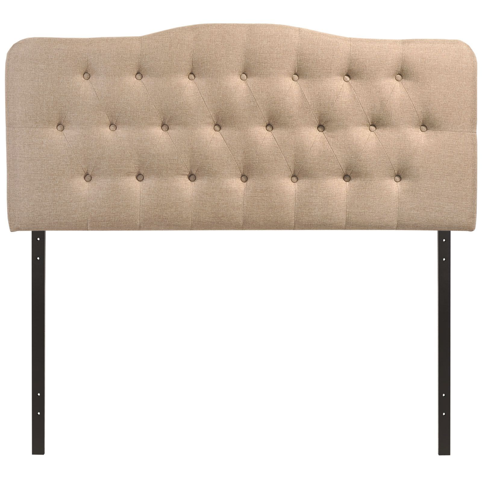 Modern Upholstered Button Tufted Arched Padded Fabric And Vinyl Headboards Products