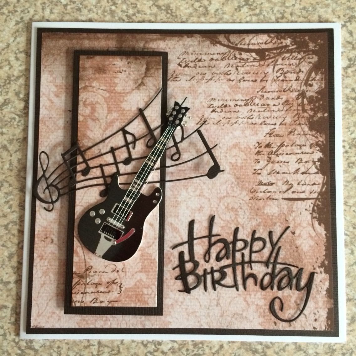 Happy Birthday Guitar Greetings Card