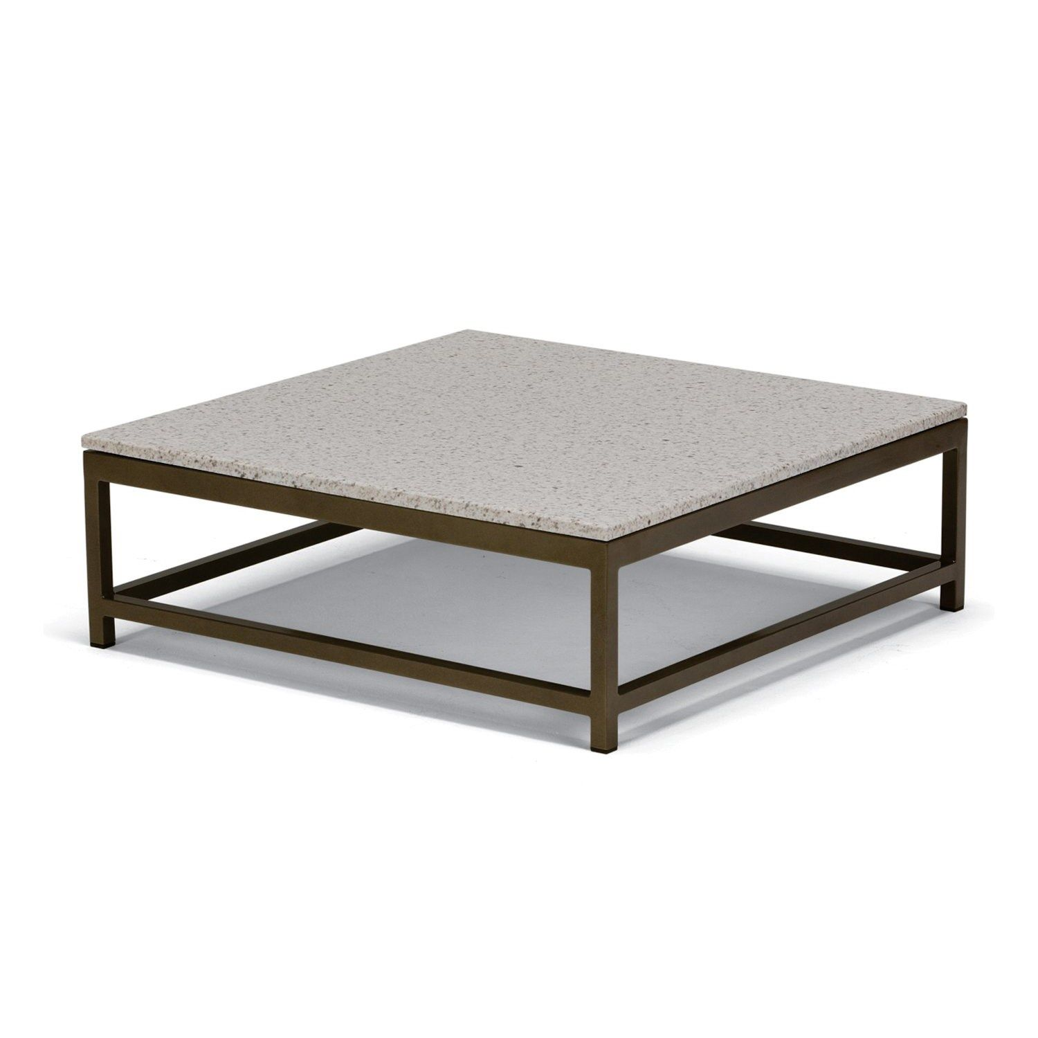 "Tropitone B Cabana Club 34"" Square Stone Top Coffee Table"