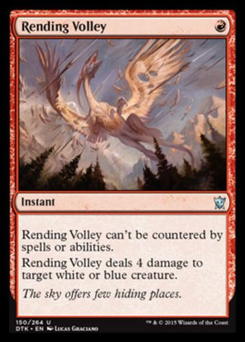 Mtg Magic The Gathering 4 Rending Volley Dragons Of Tarkir Color