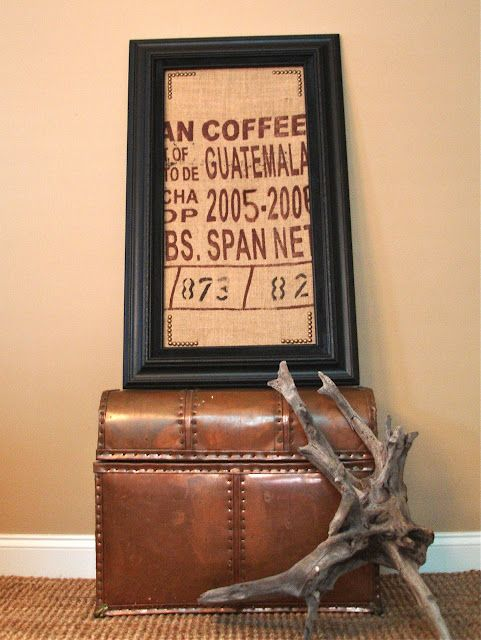 Coffee sack framed