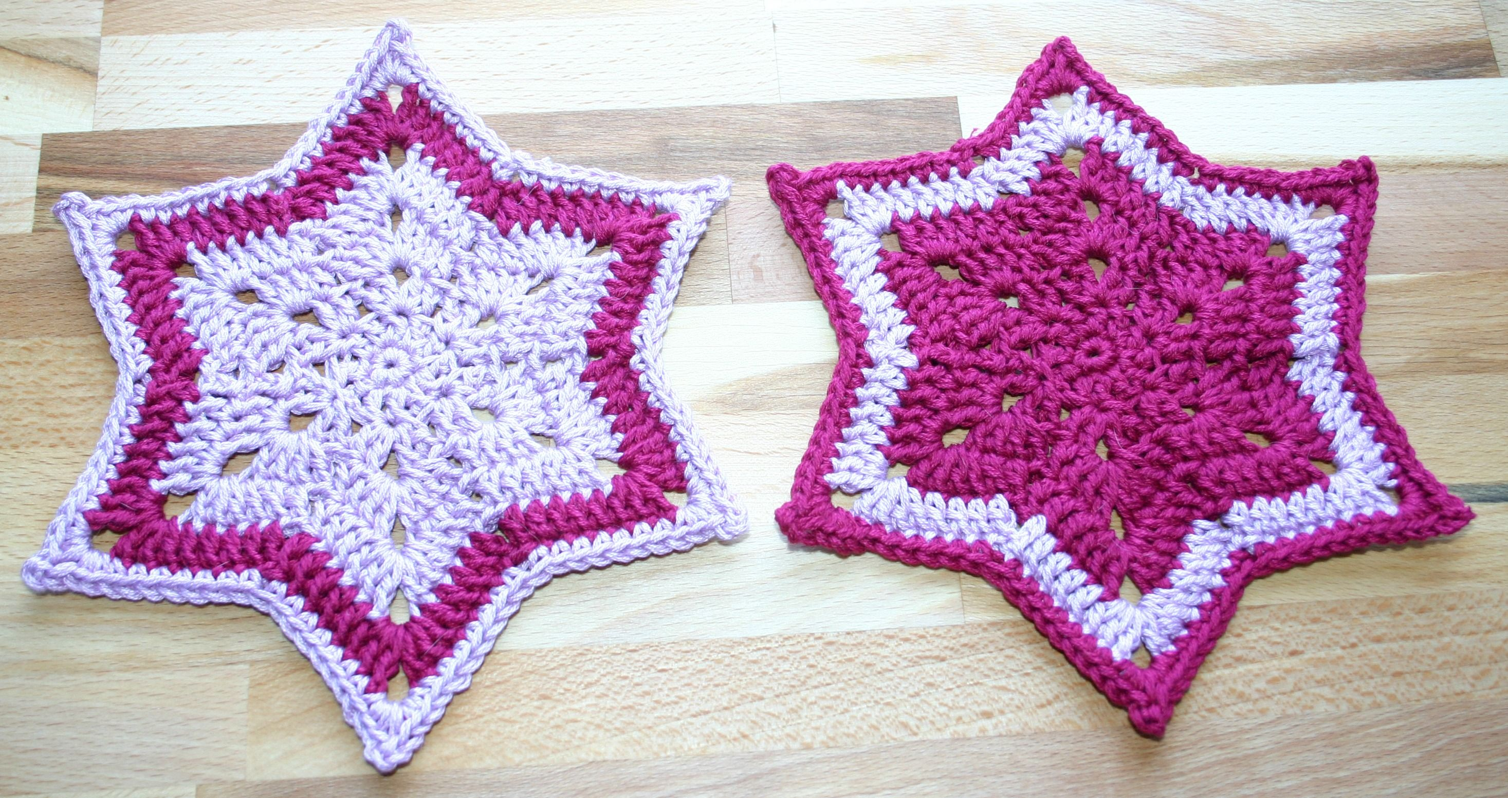 Kitchen Magic!  Potholders crochet a star shape ... for a magical teatime! :D