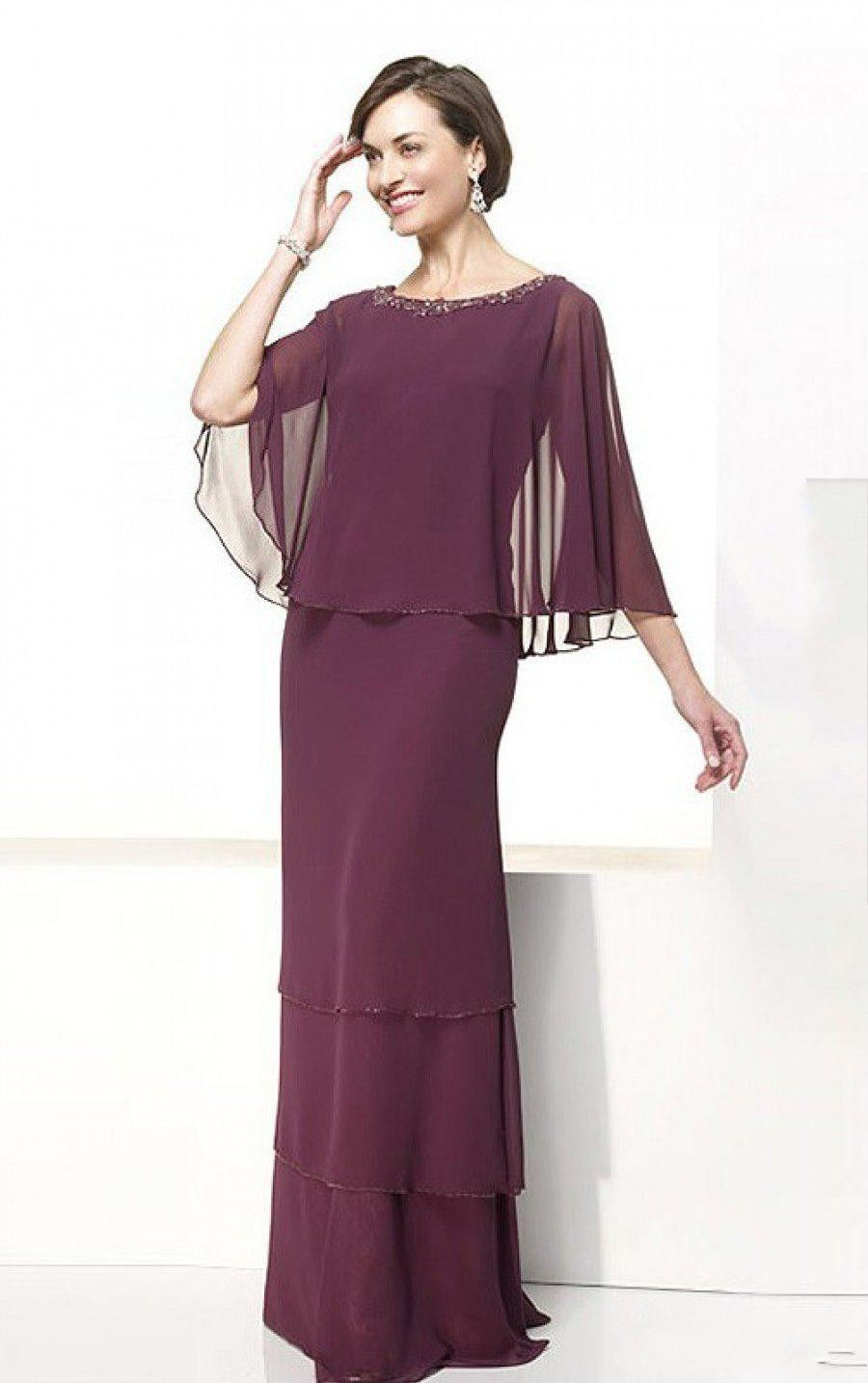 Click to buy ucuc sexy sheath mother of the bride dress burgundy