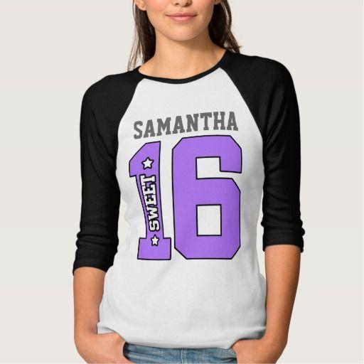 Personalized Sweet Sixteen Shirt c6271cfde358d