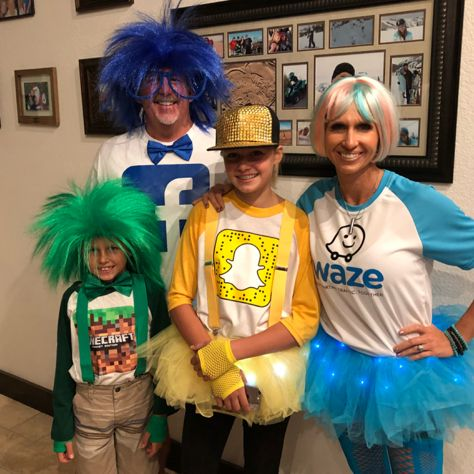 Halloween costumes social Media Facebook Snapchat WAZE