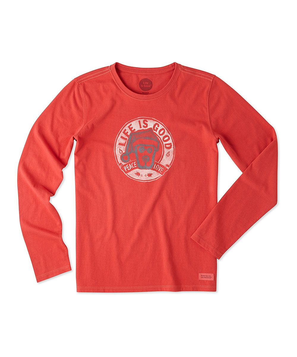 7d8ae76f5 Simply Red Rocket Santa 'Peace Love' Crusher Long-Sleeve Tee   Products