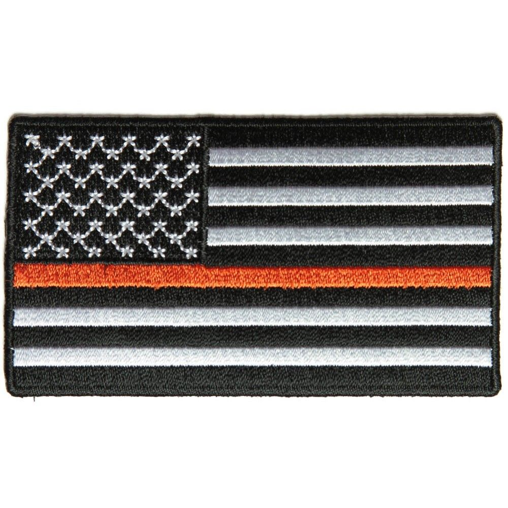 ORANGE LIVES MATTER SEARCH AND RESCUE METAL NOVELTY LICENSE PLATE AMERICAN FLAG