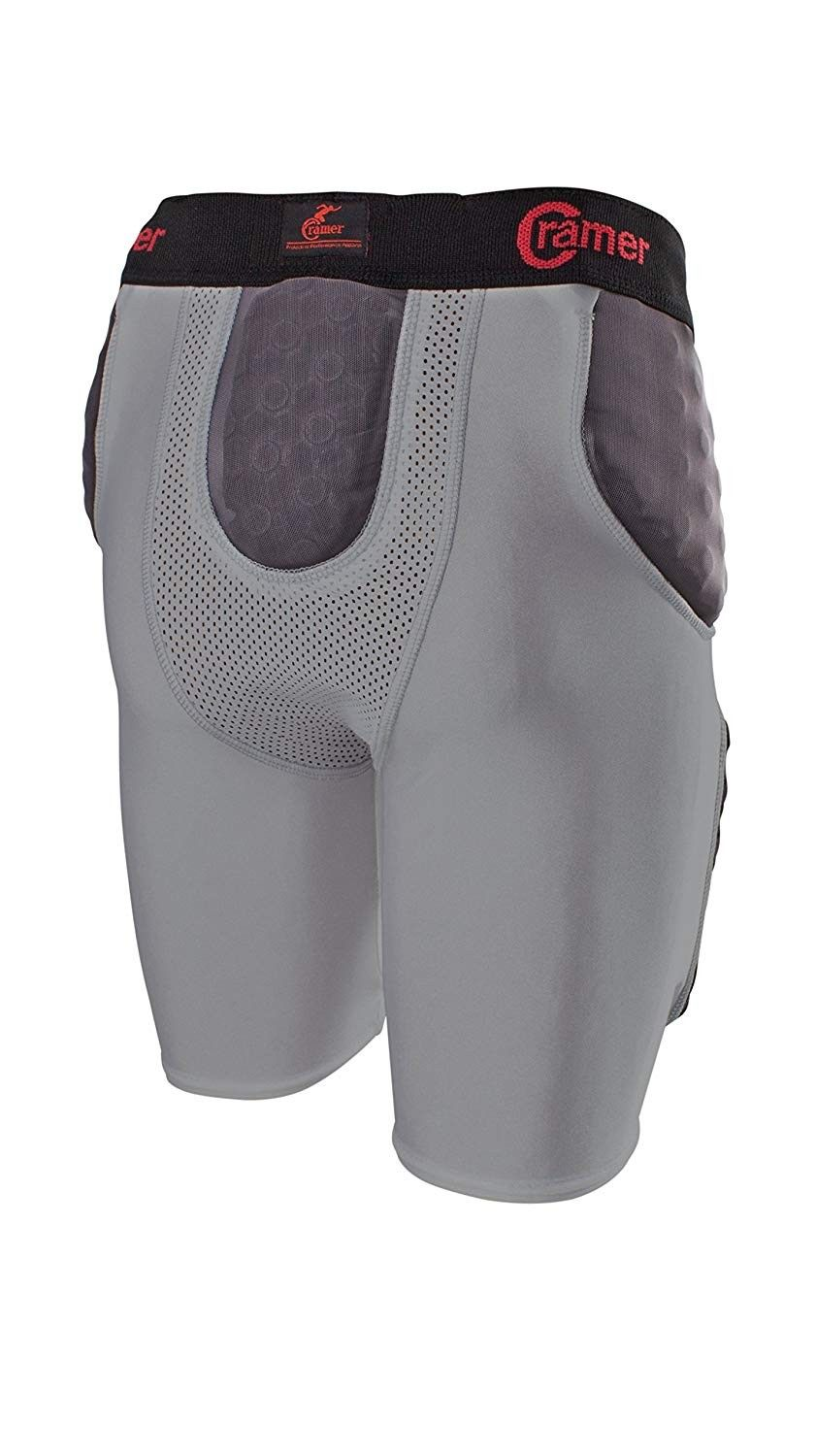 Lightning 5 pad football girdle with integrated hip tail