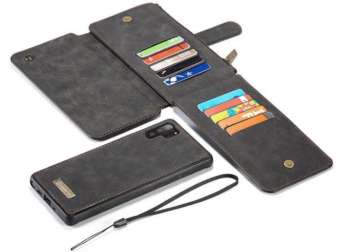 CaseMe Samsung Galaxy Note 10 Plus Wallet Detachable Case Black