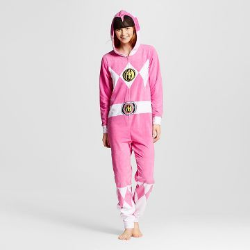 ba3b4dab Women's Power Rangers Hooded Union Suit Pajamas | Christmas List in ...