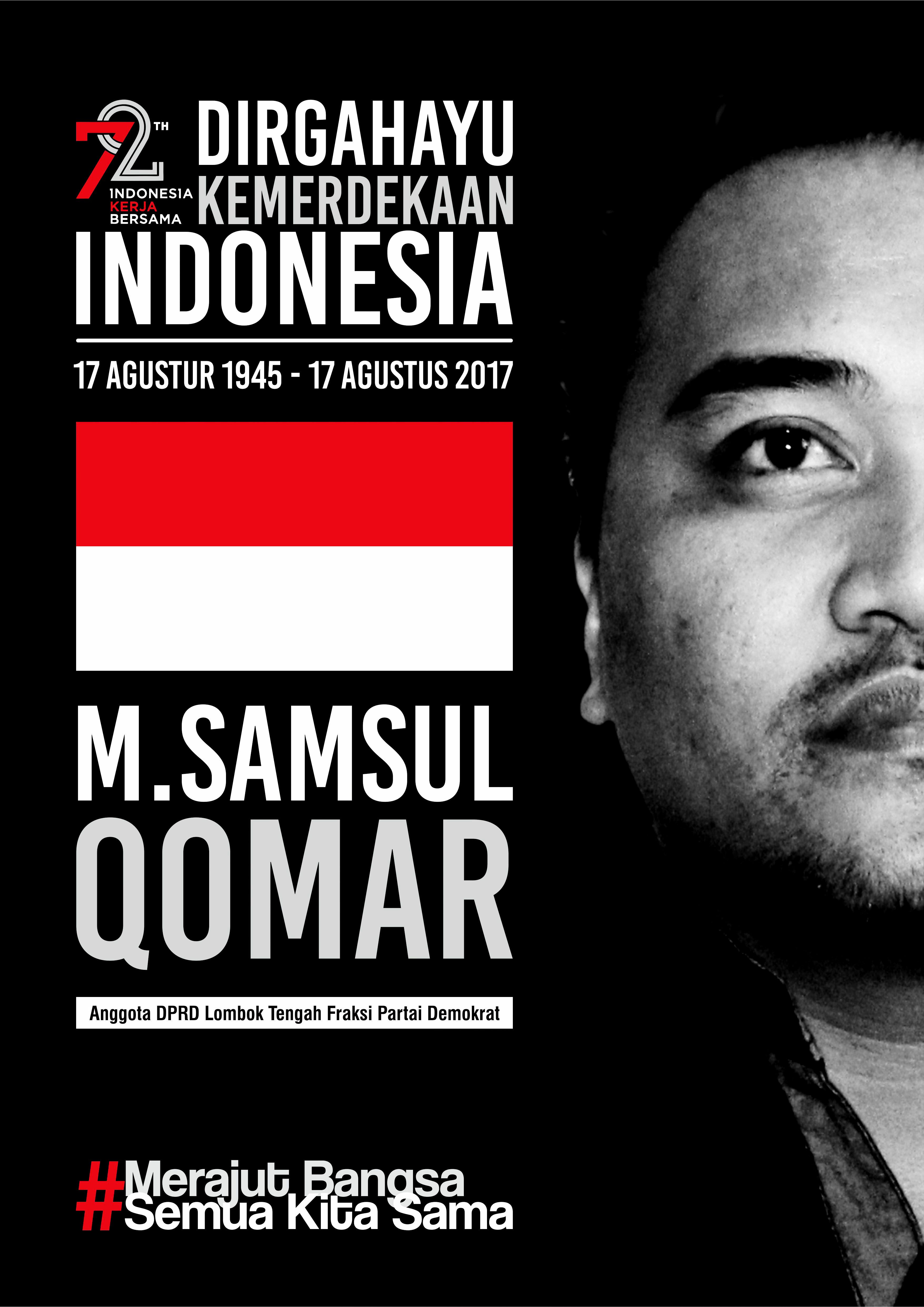 Poster Kemerdekaan Indonesia ke 72 Client M. Samsul