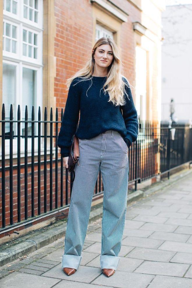 Street style à la Fashion Week automne,hiver 2017,2018 de Londres