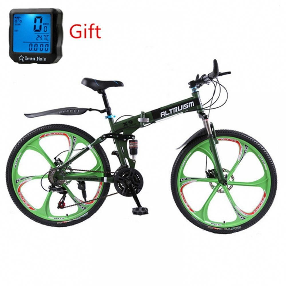 Altruism X9 26 Inch Bicycle Steel 24 Speed Folding Mountain Bike