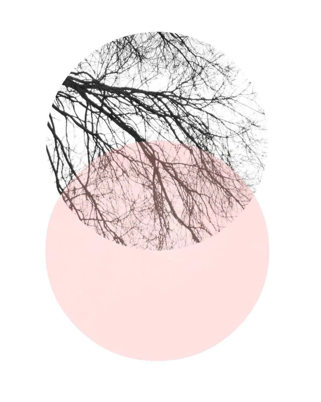 Scandinavian Art, Abstract Art Print, Art Print, Circle ...