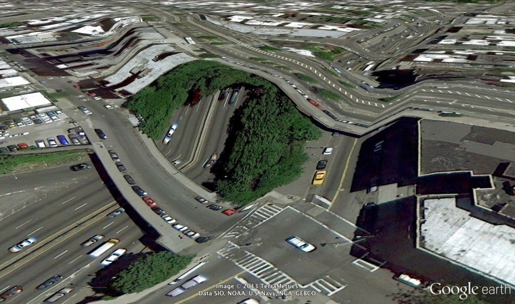 Clement Valla - Postcard From Google Earth - Bronx 2