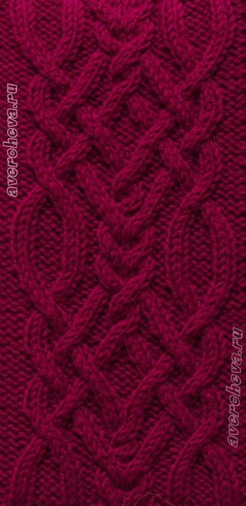 complicated red cables;) 2 | Knitting stitches, Aran ...