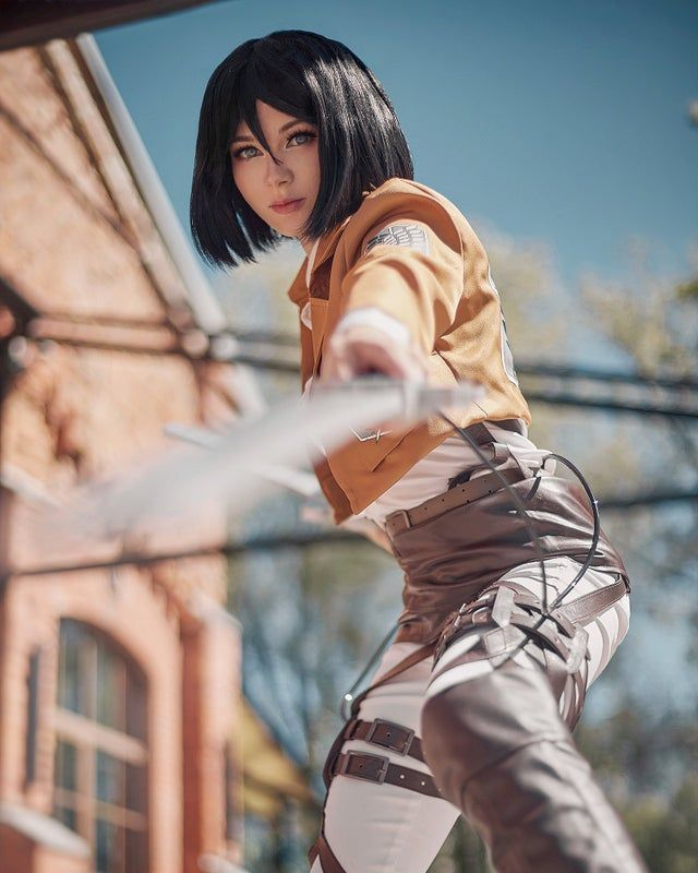 Photo of Ays as Mikasa Ackerman, Attack On Titan