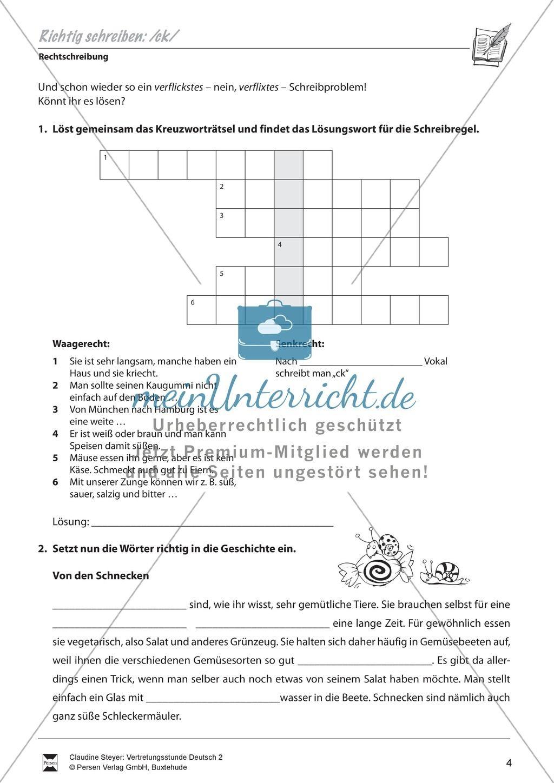 15 Rechtschreibung Ck K Arbeitsblatter