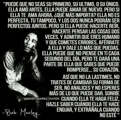 Bob Marley Frases Citas De Bob Marley Amar A Una Mujer Y