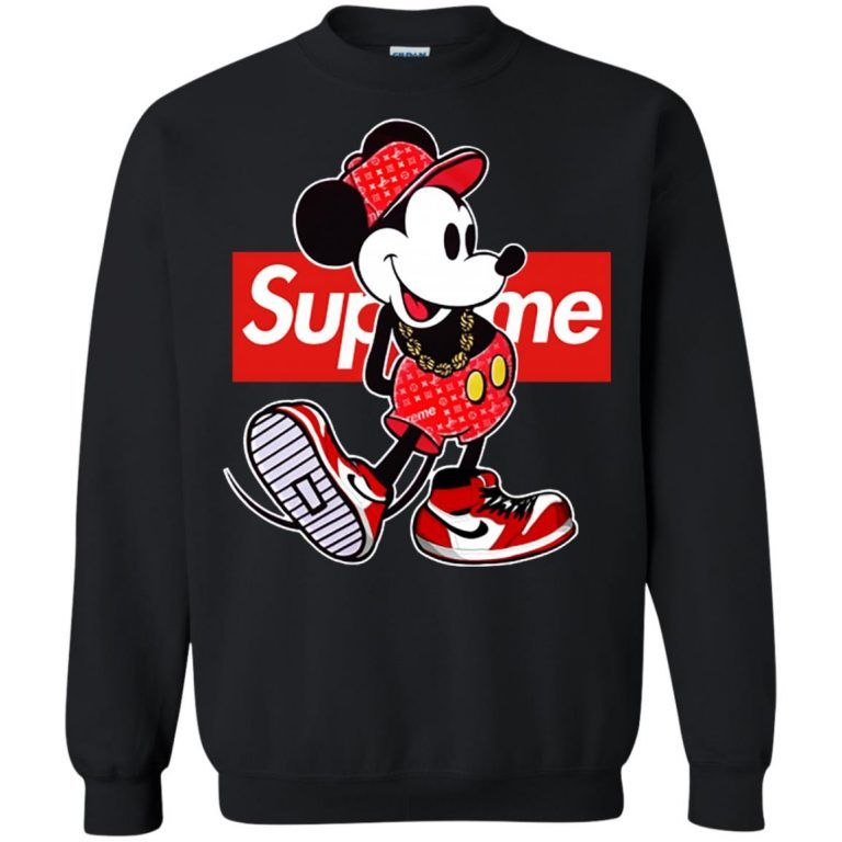 fe3e71521834 Supreme x Mickey Mouse Sweatshirt   disney   Mickey mouse sweatshirt ...