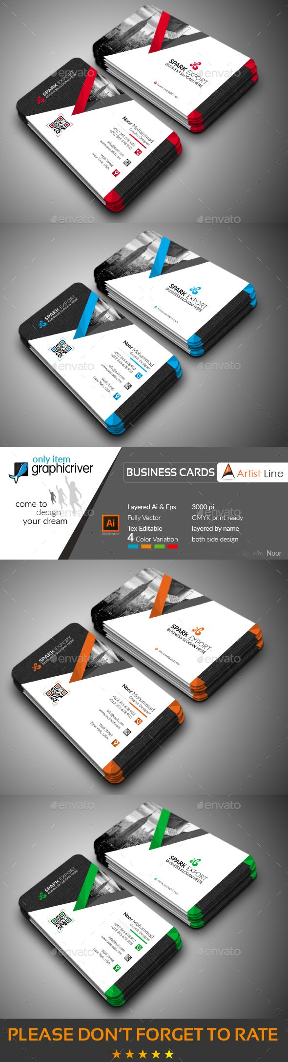 Modern business card business cards print templates business modern business card business cards print templates wajeb Image collections