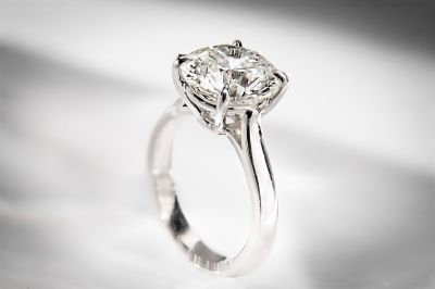 Platinum diamond solitaire engagement ring #igorman