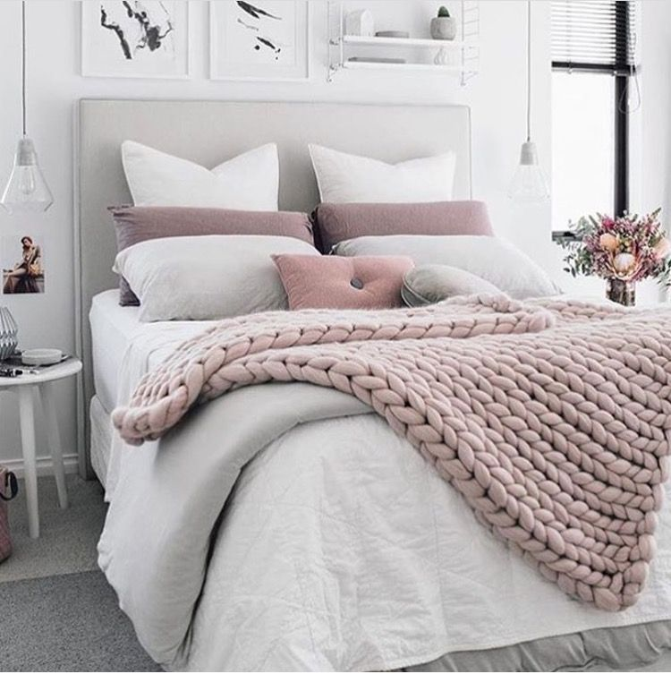 Blush Pink White Home Bedroom Room Decor Bedroom Decor