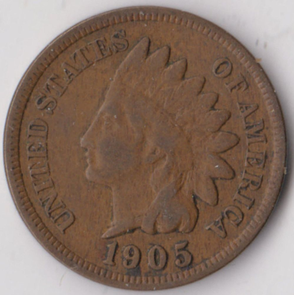 1905 United States Indian Head Cent Low 01 Start True