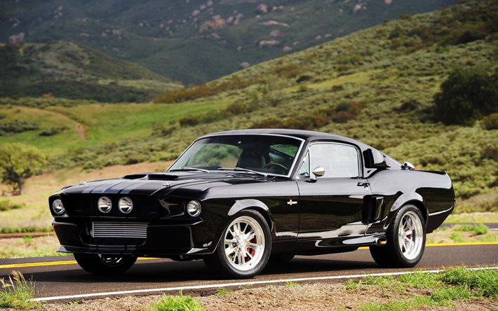 Download Wallpapers Ford Mustang 1969 Retro Car Black Mustang