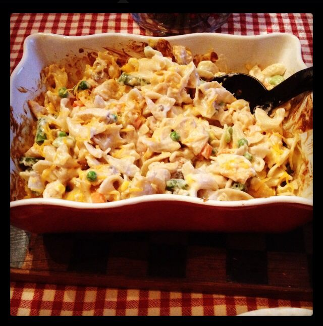 chicken noodle casserole 1 can (10 3/4 ounces) campbell's