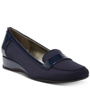 6eb4144c3690 Bandolino Latera Wedge Loafer Flats - Blue 10.5M