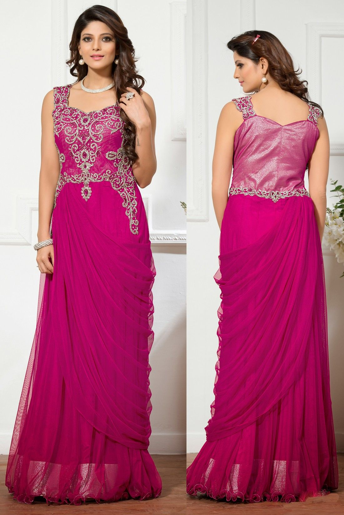 EmbroideredGowns PartyWearGown Indian