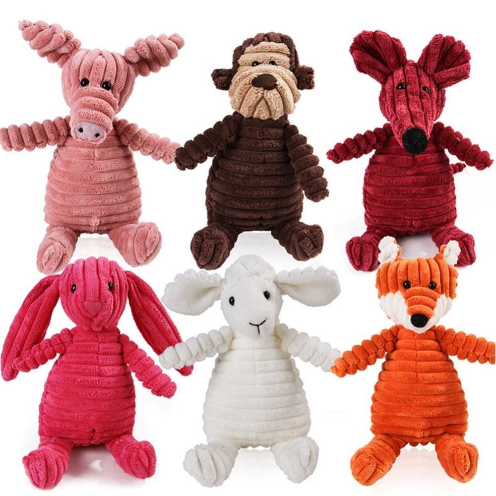 16 Animals Dog Chew Squeak Toys Giraffe Fleece Rope Interative Toy