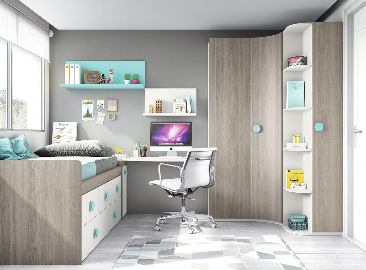 Dise o juvenil mueble compacto for Compactos juveniles