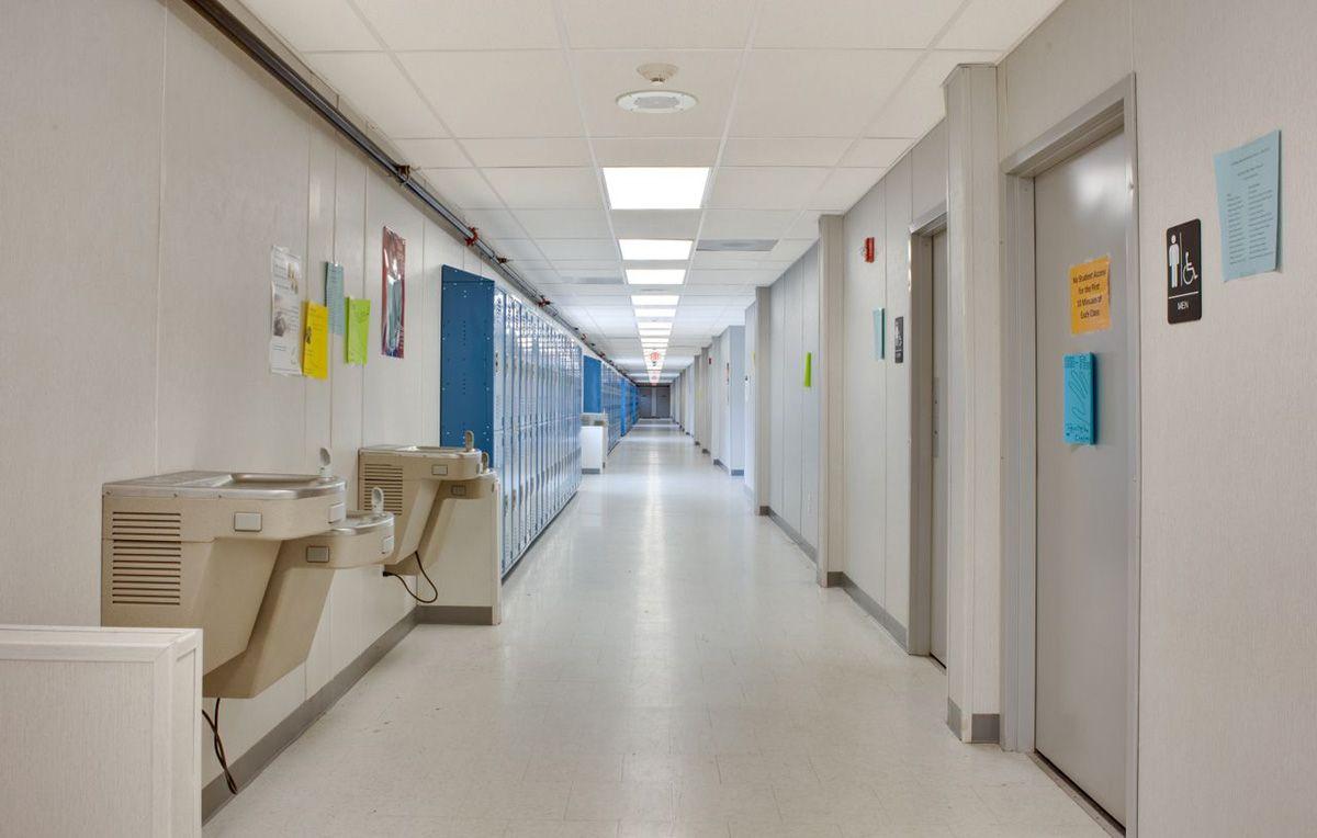 H c wilcox technical school interior hallway interior - Architecture and interior design schools ...