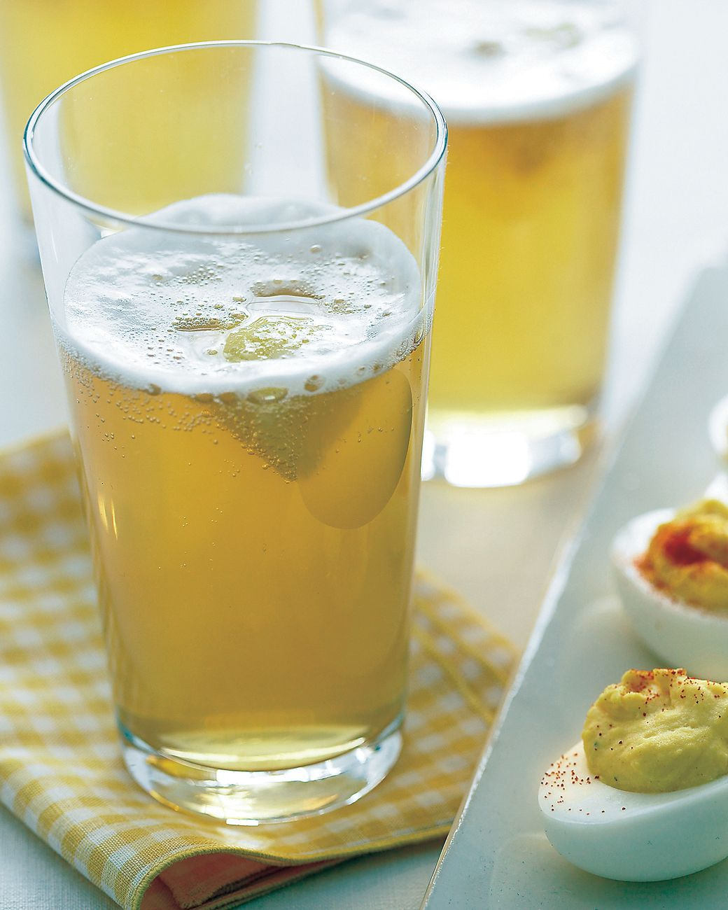 Blend lemonade with beer for a mellow-yellow refresher.