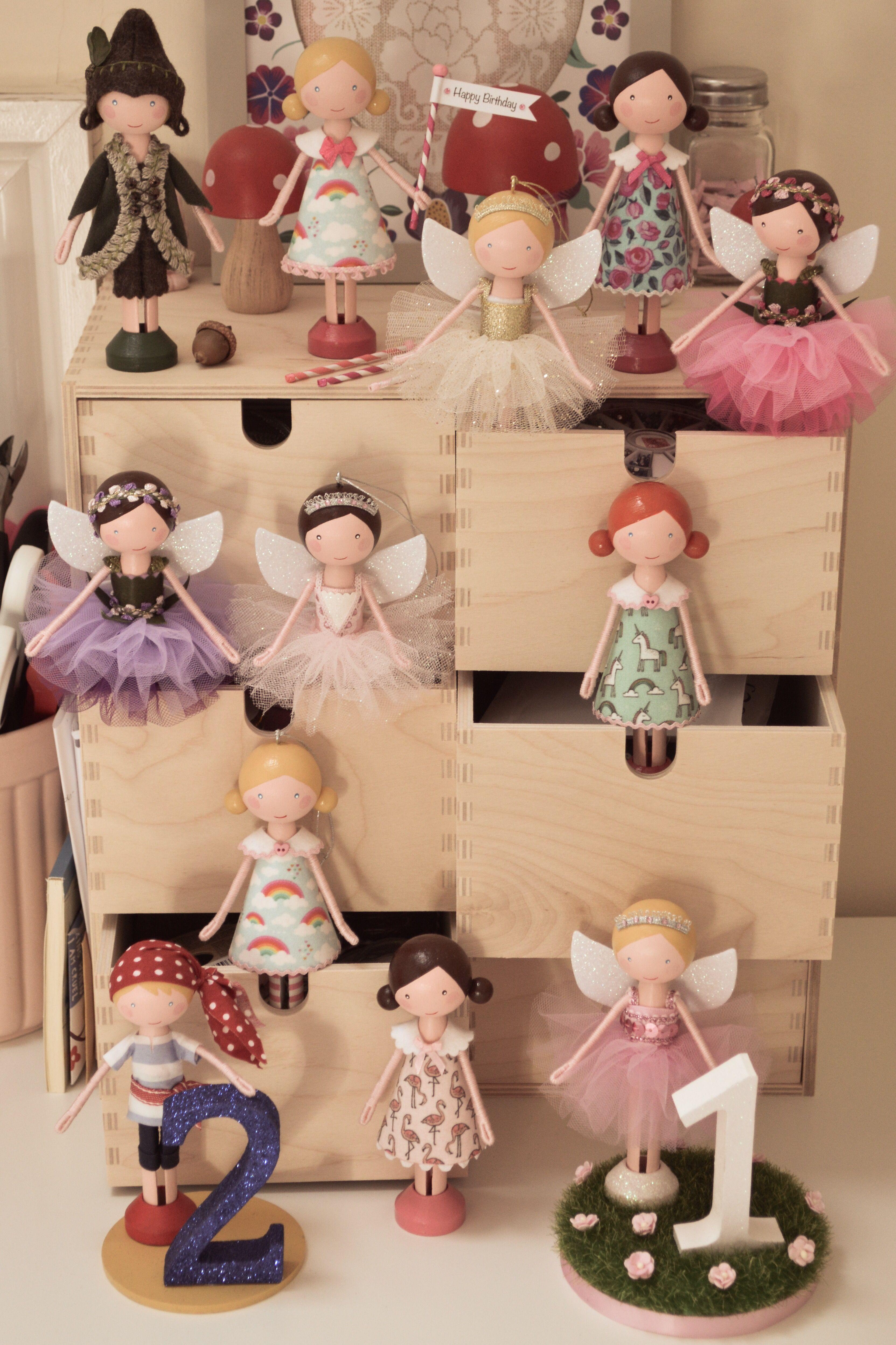 Peg Doll Clothespin Doll Flossy Bobbins Makery Craft Ideas