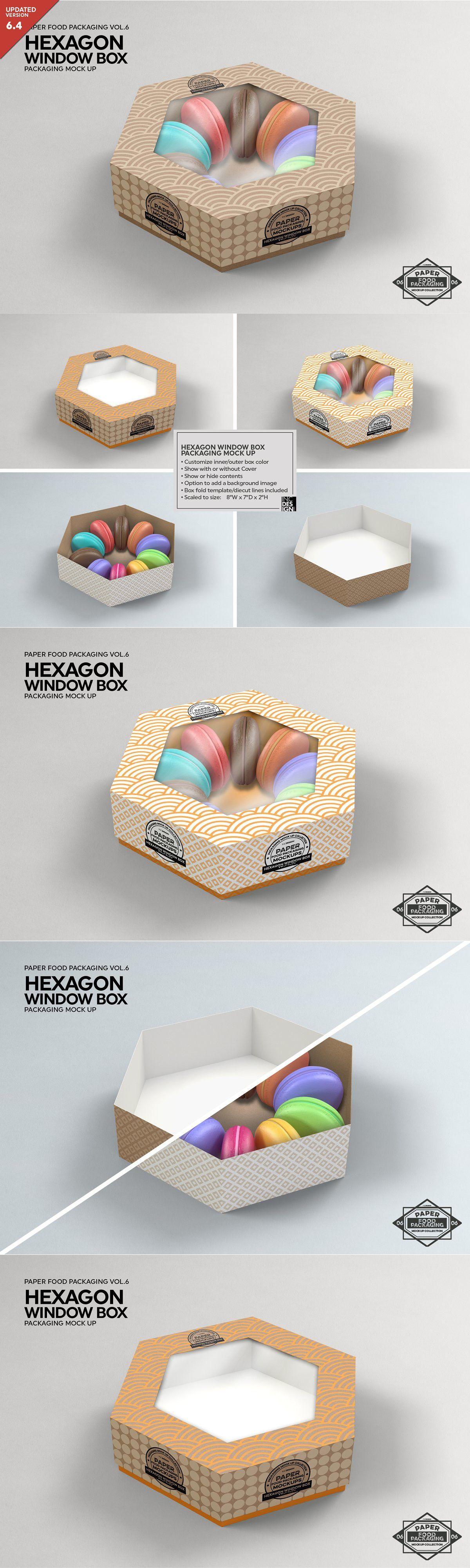 Download Hexagon Window Box Mockup Free Packaging Mockup Box Mockup Window Box