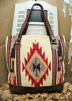 Brown Southwest Navajo Rug Tote Purse Backpack Bags Ethnic