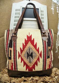 Brown Southwest Navajo Rug Tote Purse Bags Linen Bag