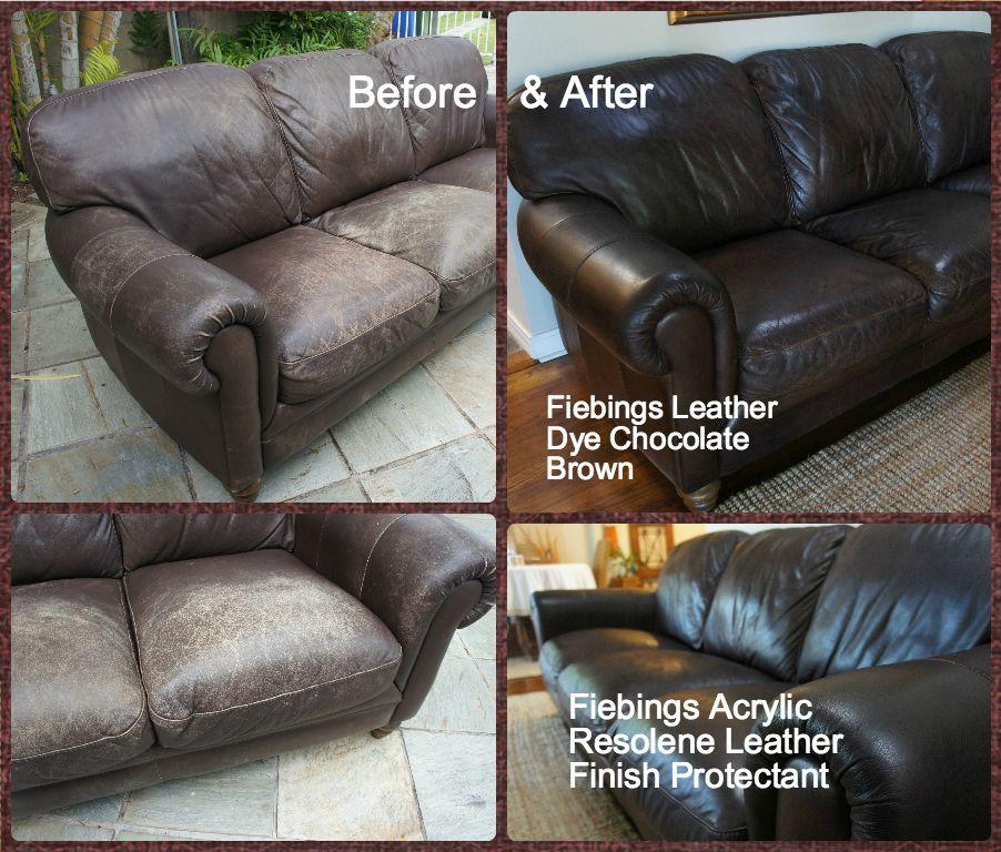 I Dyed My 10 Year Old Natuzzi Leather Sofa Using Feibings Leather