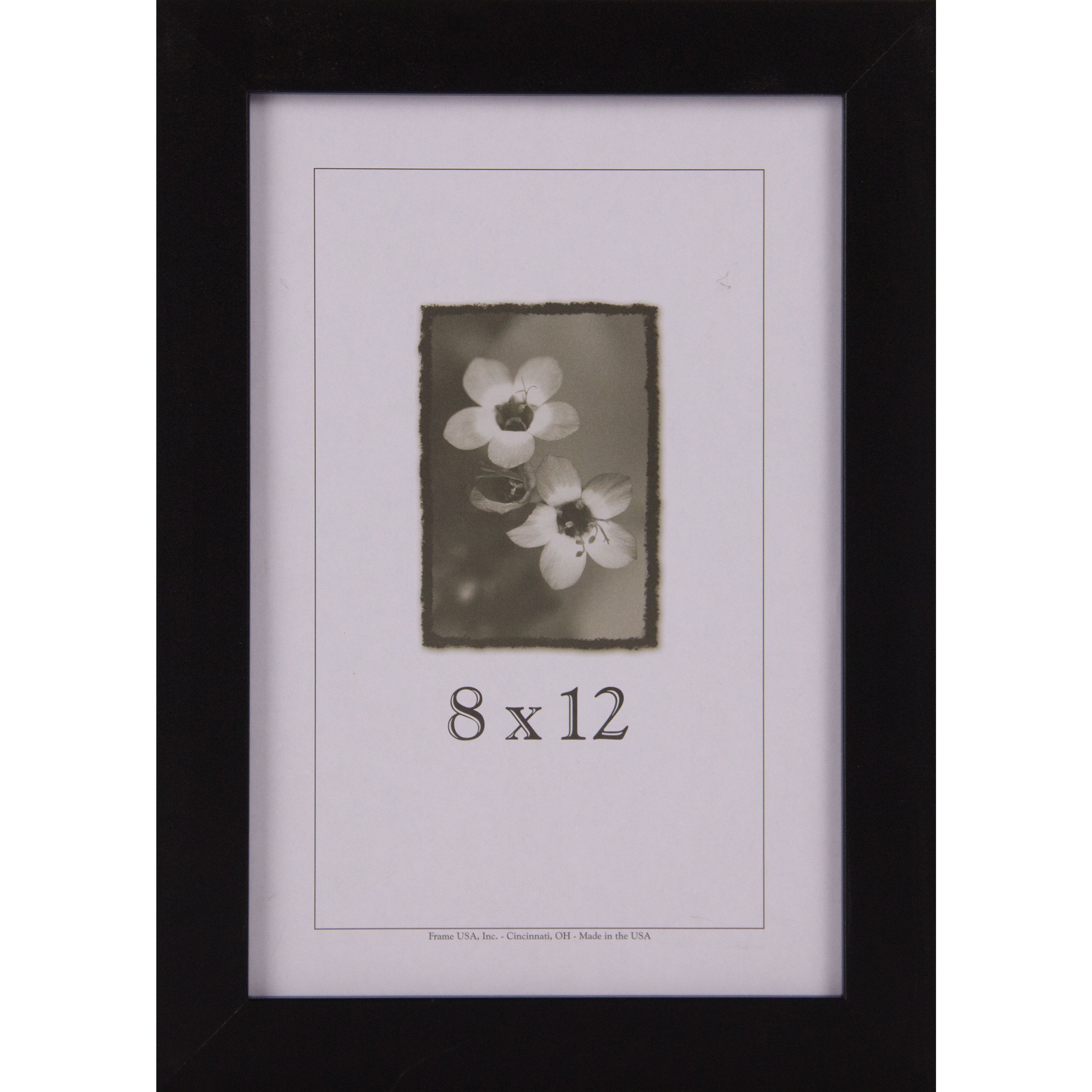 Affordable Black Frame 8 X 12 Black Medium 8x12 Wood