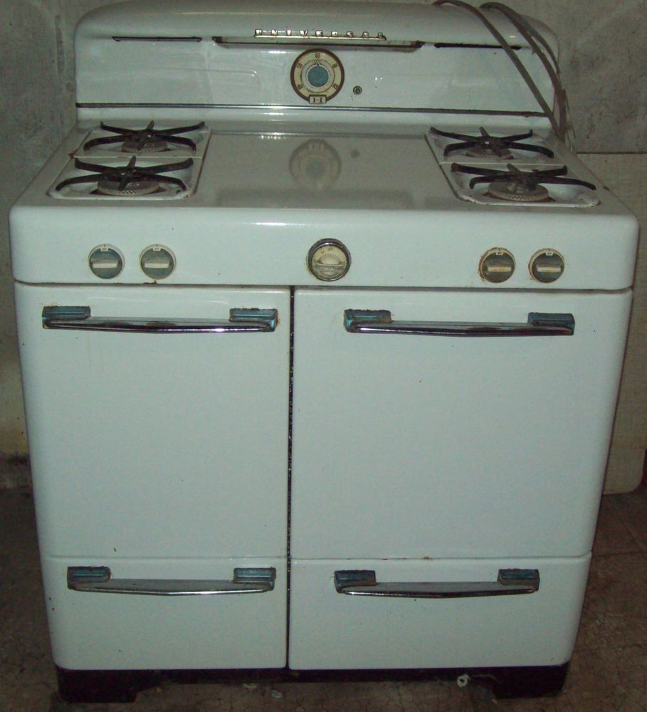 Awesome Vintage 1950\'s White Universal Gas Stove Oven w/Broiler + ...