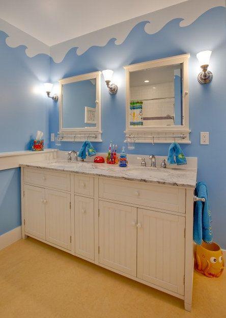 Beachy Bathroom | Paint stencils, Washroom and Bath accessories