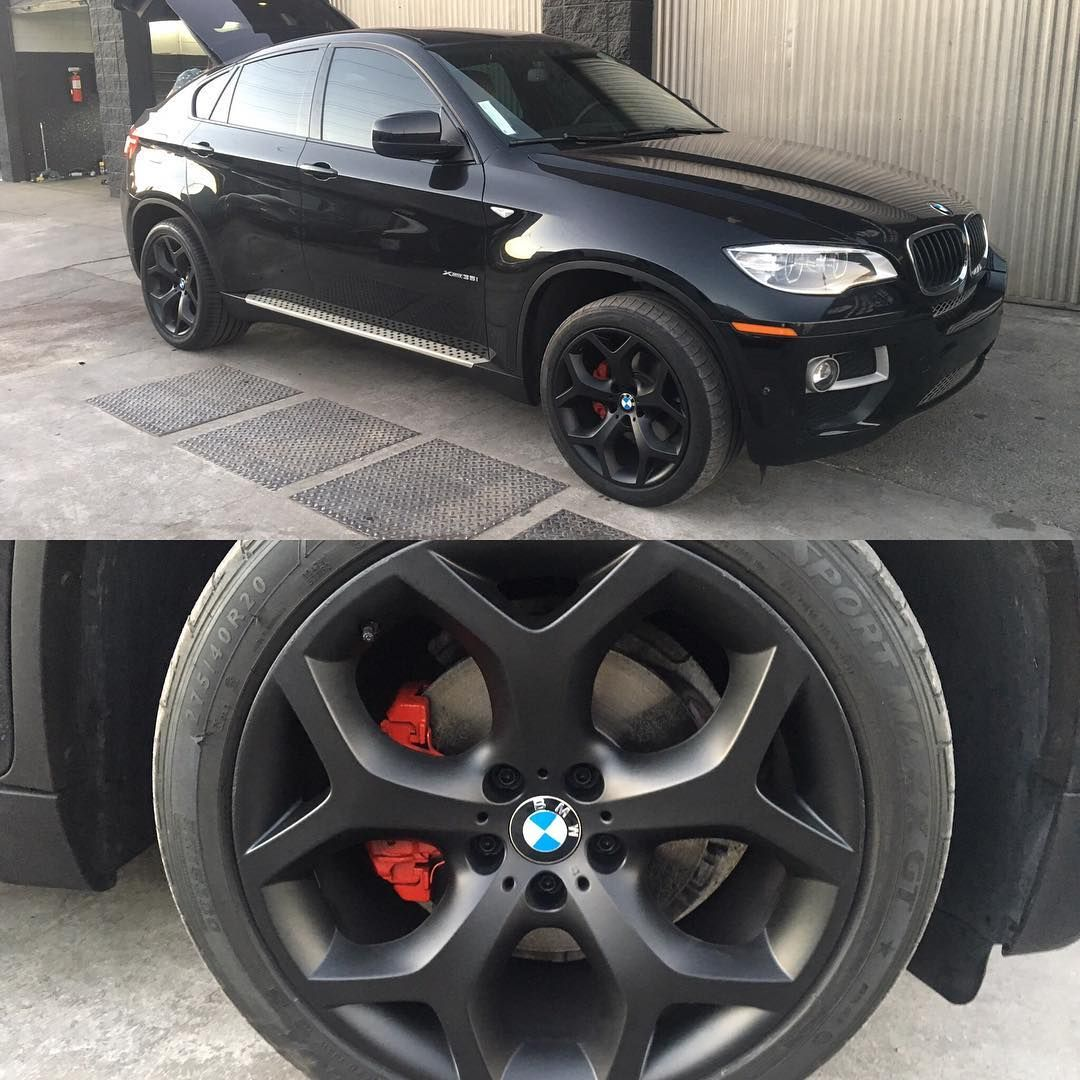 Bmw X6 Red: BMW X6 Black Wheels And Red Calipers Special Combo Deal