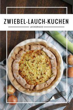 Zwiebel-Lauch-Kuchen im Brotteig