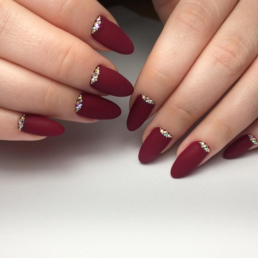 nice 55 Amazing Designs for Burgundy Nails - Captivating and Trendy ...